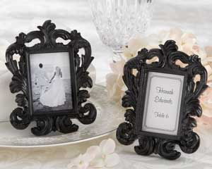 Black Baroque Elegant Place Card Holder Photo Frame