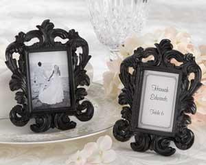 Black Baroque Elegant Place Card Holder Photo Frame