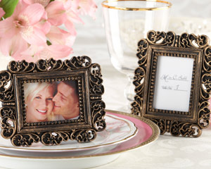 ornate antique gold place card holderphoto frame