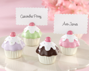 """Sweet Surprise"" Cupcake Place Card/Photo Holder (Set of 4)"