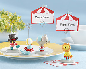 """Big Top"" Circus Animal Place Card/Photo Holder (Set of 4)"
