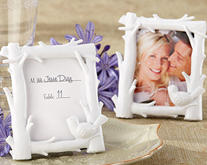 &quot;White Woods&quot; Forest-Themed High-Gloss-Finish Photo Frame