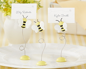 """Sweet as Can Bee!"" Baby Bee Place Card Holder (Set of 6)"