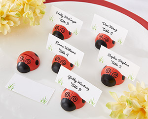 """Cute as a Bug"" Ladybug Place Card/Photo Holder (Set of 6)"