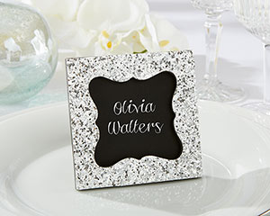 """SPARKLE AND SHINE"" SILVER GLITTER FRAME"