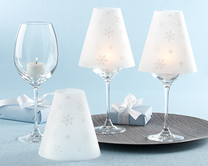 """Snowflakes"" Vellum Shades (Set of 24)"