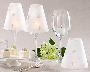 &quot;Fleur de Lis&quot; Vellum Shades (Set of 24)