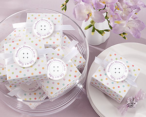 &quot;Cute As a Button&quot; Baby Shower Favor Box (Set of 24)