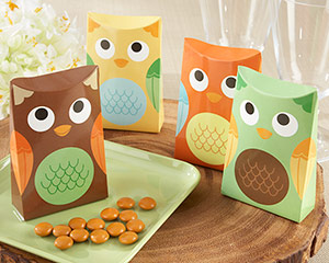 &quot;Whooo's Happy?&quot; Owl Favor Box (Set of 24) (Available Personalized)