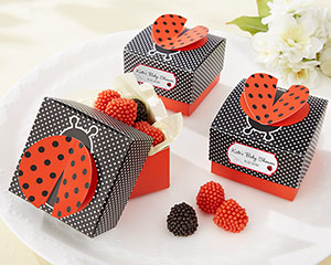 """Cute as a Bug"" 3-D Wing Ladybug Favor Box (Set of 24)"