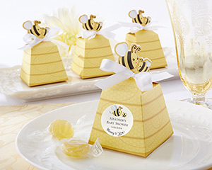 """Sweet as Can Bee!"" Mom and Baby Beehive Favor Box"