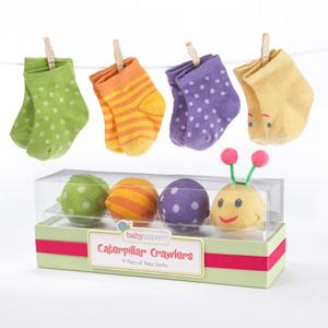 """Caterpillar Crawlers"" Baby Socks Gift Set"