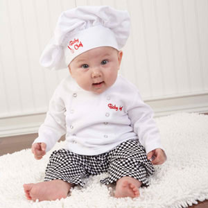 �Big Dreamzzz� Baby Chef Three Piece Layette in Culinary Themed Gift Box