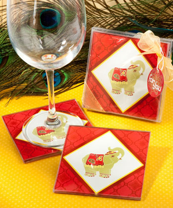 Elephant design coaster sets