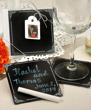 Blackboard design coaster sets
