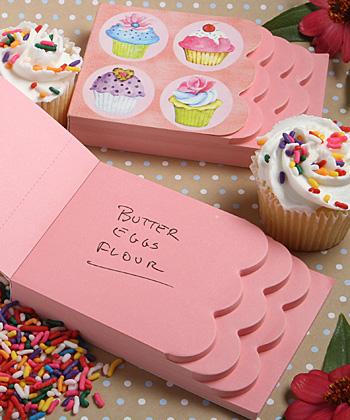 Cupcake Design Notepad Favors