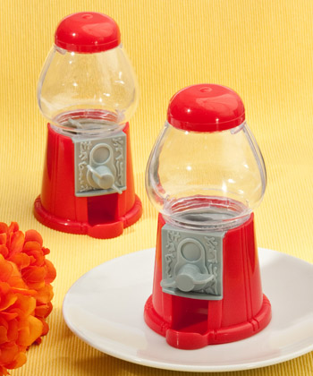CLASSIC RED CANDY DISPENSING MACHINE FAVORS