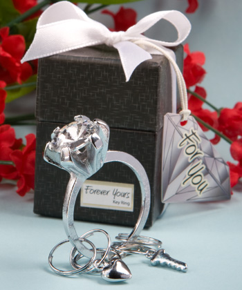 6 Diamond Ring Design Key Ring Favors