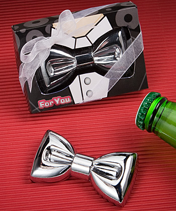 Festive bow tie design bottle openers