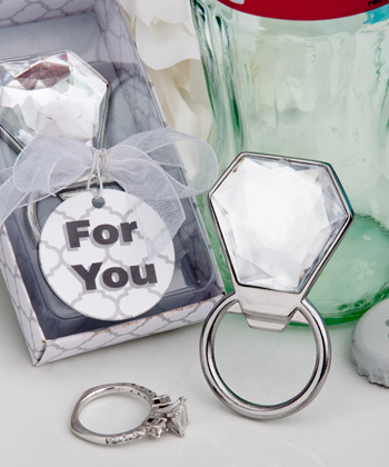 Bling Collection diamond ring bottle openers-Bling Collection diamond ring bottle openers