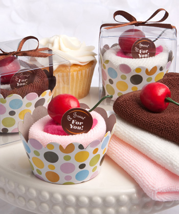 Cupcake Design Towel Favors-Cupcake Design Towel Favors