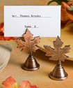 Autumn leaf design placecard holders