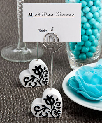Heart Design Place Card Holders