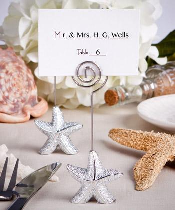 Shimmering Starfish Design Place Card Holder Favors