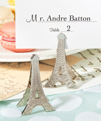 Perfectly Parisian memo/place card clips