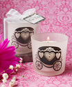 Charming pumpkin coach design candles