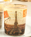Parisian Themed Glass Votive Holders