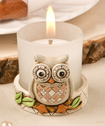 Vintage Owl Votive Candle Holder