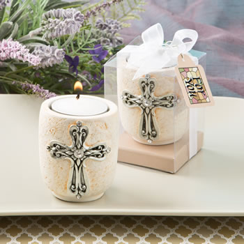CROSS DESIGN CANDLE TEA LIGHT HOLDER FROM FASHIONCRAF