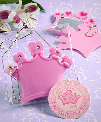 Crown design mirror compact/keychain