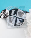Sparkling rhinestone LOVE design mirror compacts