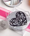 Ultra-glitzy heart design mirror compacts