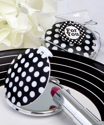 Chic Polka Dot Compact Mirrors