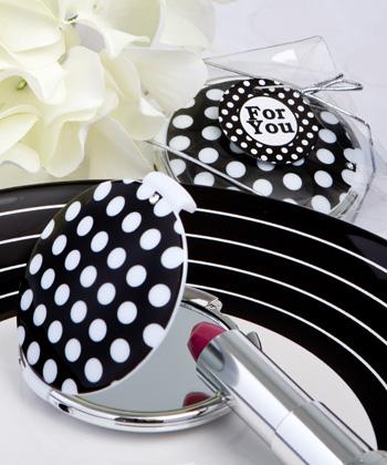 Chic Polka Dot Compact Mirrors