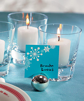 classic round place card holder set of 8