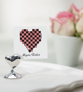Swish Heart Place Card Holders - Set of 8