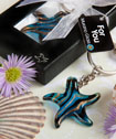 Murano Glass Collection starfish keychain favors