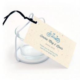 Plantable Tandem Bicycle Favor Tag