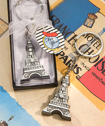 Love in Paris Collection Eiffel Tower key chain favors