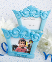Blue crown design photo/place card frames
