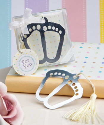 Baby themed bookmark favor