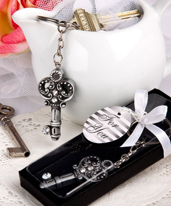 Antique Key Design Key Chain Favors
