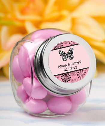 Personalized Glass Jar - Butterfly-Personalized Glass Jar - Butterfly