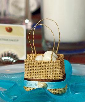 Natural Miniature Woven Beach Bags (Set of 6)