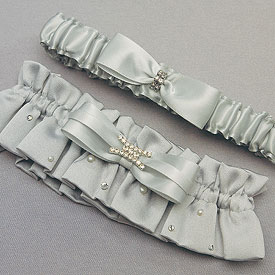 Platinum By Design Two Piece Bridal Garter Set