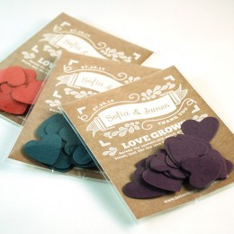 Canvas Heart Confetti Favor